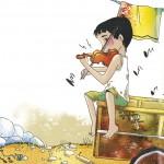 Kuvitusta Carla Magnanin ja Gabriella Solarin kirjasta Musiikin aakkoset.