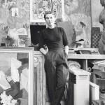 Tove Jansson ateljeessaan, v. 1956