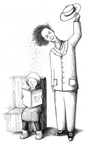 Viveka Salon kuvitusta kirjaan Vallilan sankarit Tero ja Tarmo
