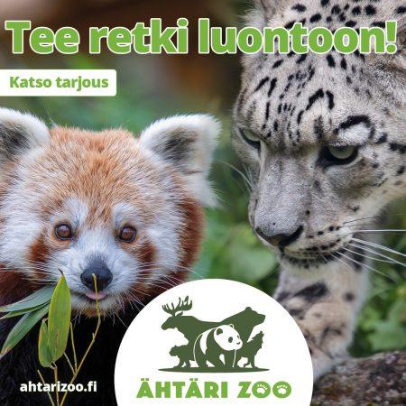 Tee retki luontoon! Katso tarjous. Ähtäri Zoo. Kuvassa eläinpuiston eläimiä.