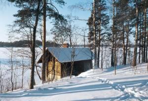 Halosenniemen saunassa on asuttu ja synnytetty. Kuva Tuusulan Museo