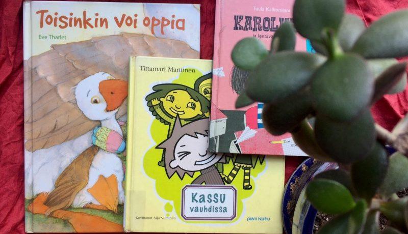 Erilaisia kirjoja koulun aloittamisesta