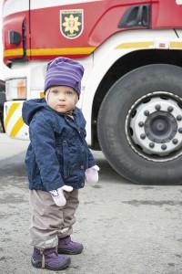 Usva ei pelkää isoja paloautoja.