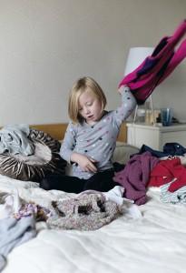 Jos vaatteet tuntuvat epämiellyttäviltä, Malou stressaantuu.